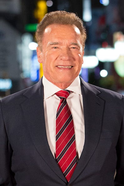 Arnold Schwarzenegger attends the Japan premiere of 'Terminator: Dark Fate' at Shinjuku Kabuki-cho Godzilla Road on November 06, 2019 in Tokyo, Japan.
