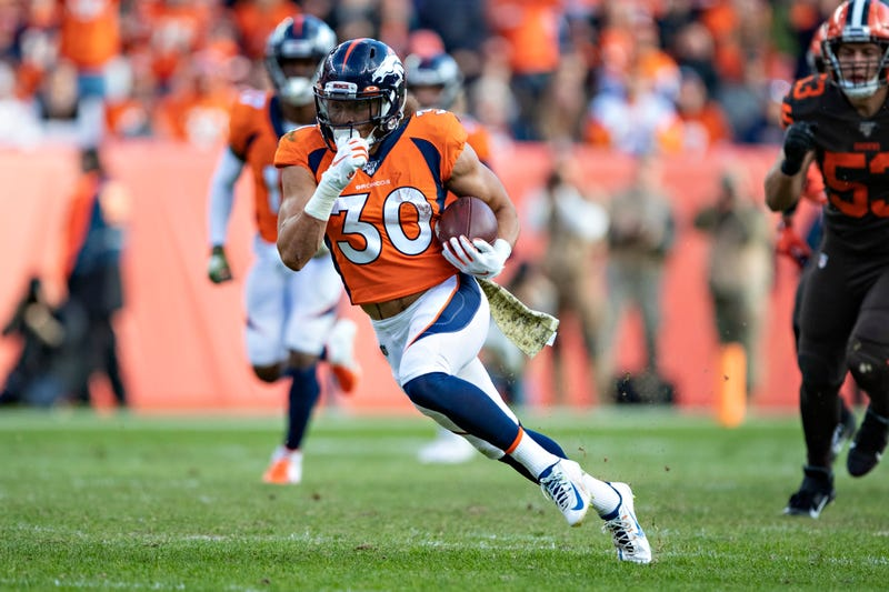 Phillip Lindsay and the Broncos are returning from their bye week.