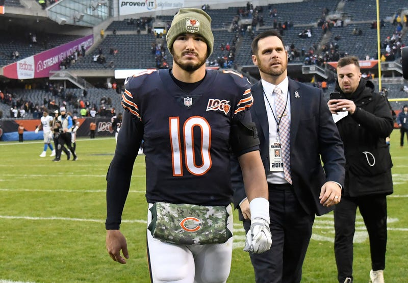 Mitchell Trubisky led the Bears to a win in Week 10.