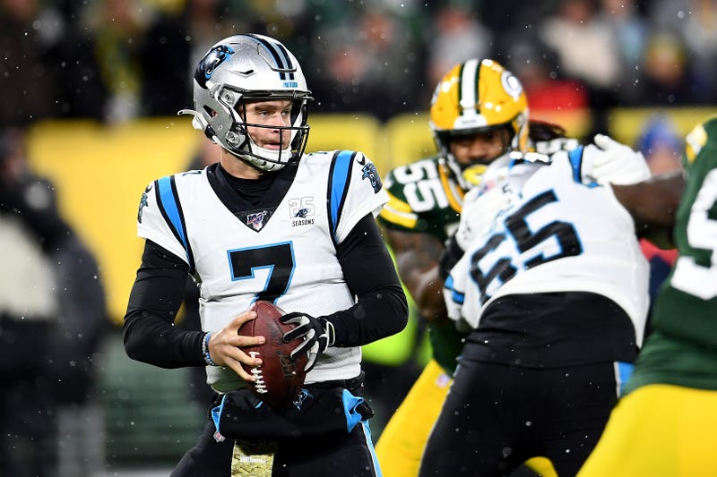 Kyle Allen nearly led the Panthers back from a 14-point deficit in Green Bay.