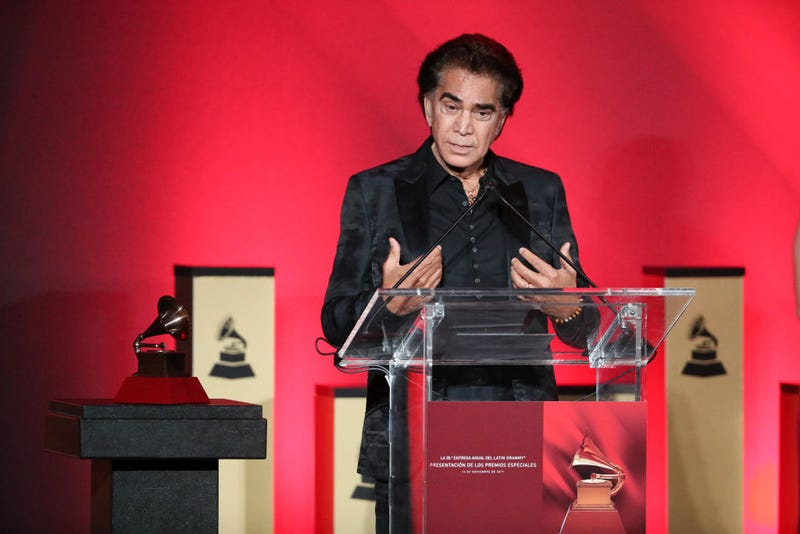 José Luis Rodríguez accepts a Lifetime Achievement Award during the 2019 Latin Grammy Special Merit Awards on November 13, 2019 in Las Vegas, Nevada