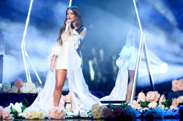 Maren Morris performs onstage during the 53rd annual CMA Awards