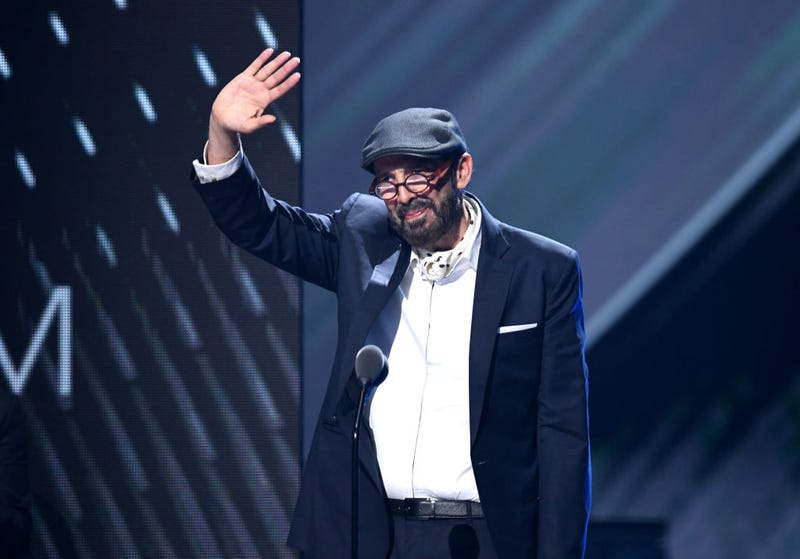 Juan Luis Guerra receives the Best Contemporay Tropical Albun award onstage during the 20th annual Latin GRAMMY Awards at MGM Grand Garden Arena on November 14, 2019 in Las Vegas, Nevada.