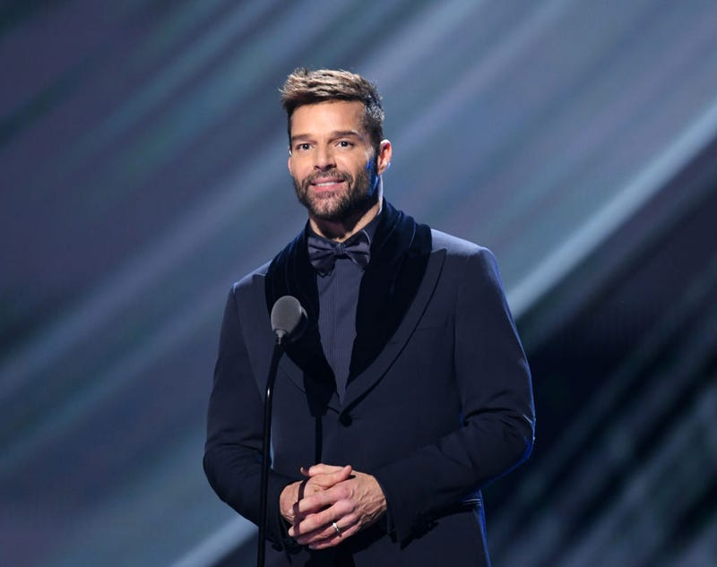 Ricky Martin wearing a bow tie