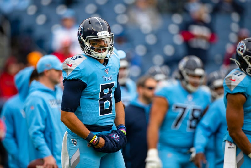 Marcus Mariota under center for the Tennessee Titans