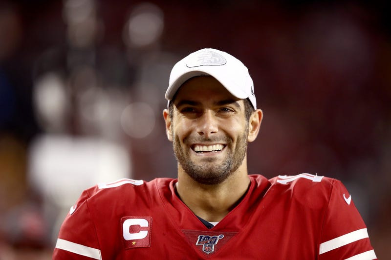 Jimmy Garoppolo and the 49ers had a dominant showing on Sunday Night Football.