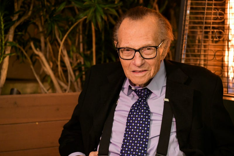 Larry King poses for portrait as the Friars Club and Crescent Hotel honor him for his 86th birthday at Crescent Hotel on November 25, 2019 in Beverly Hills, California.