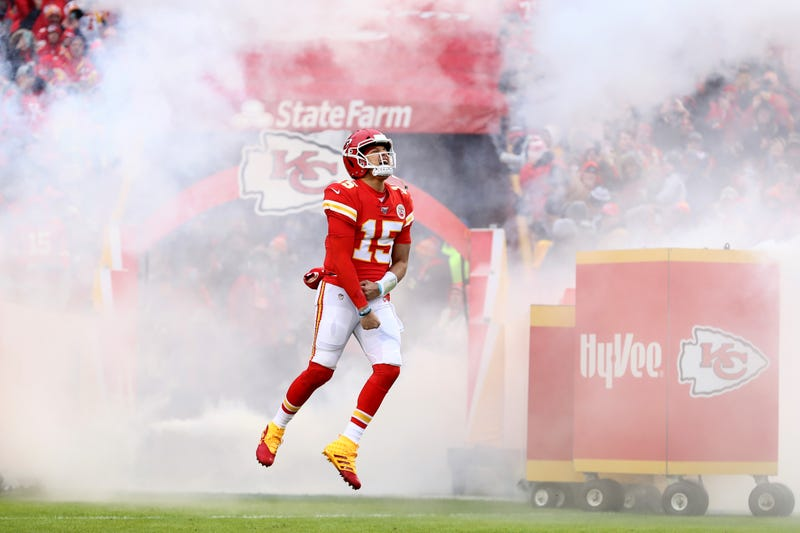 Patrick Mahomes and the Chiefs will play in New England this weekend.