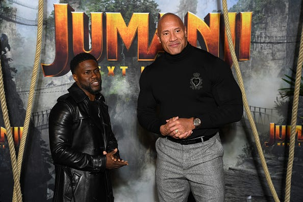 "Dwayne ""The Rock"" Johnson and Kevin Hart"