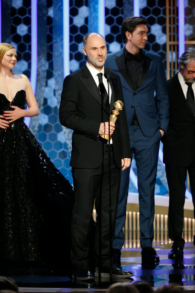 Showrunner Jesse Armstrong accepts award