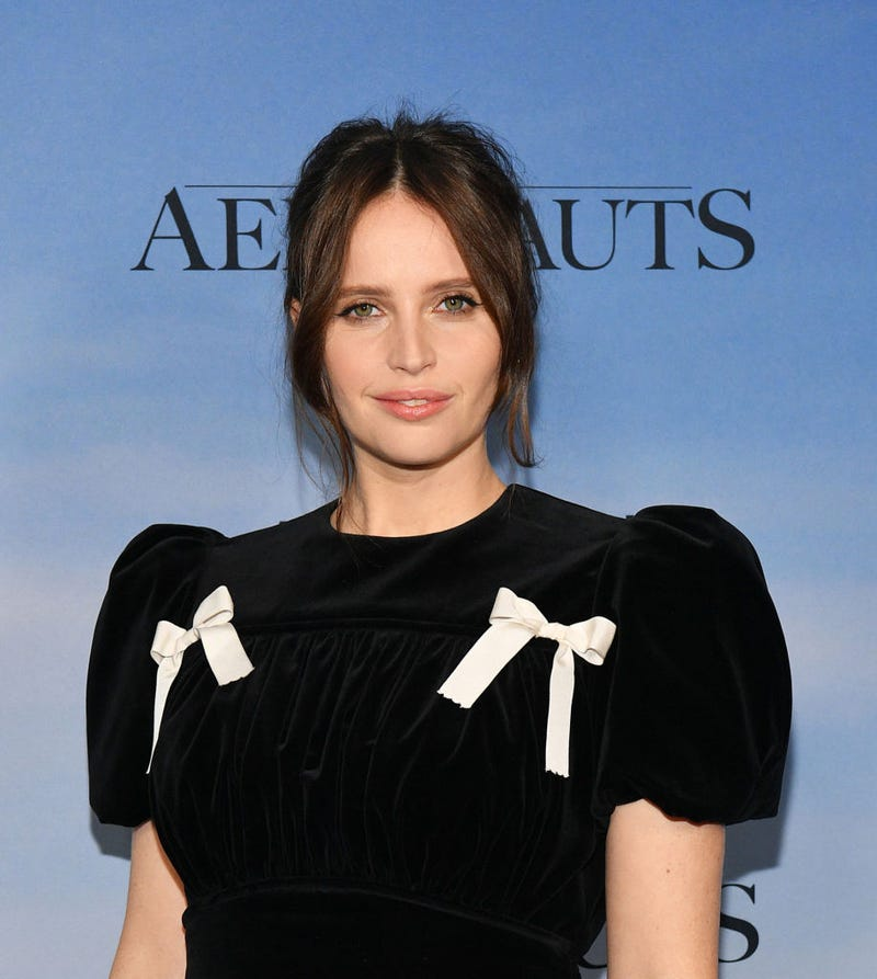 "Felicity Jones attends ""The Aeronauts"" New York Premiere at SVA Theater on December 04, 2019 in New York City."