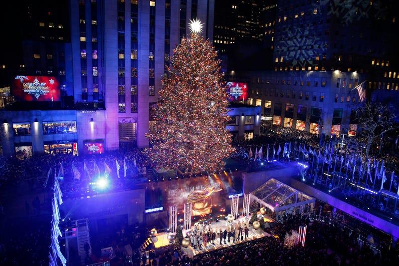 The Rockefeller Center Christmas Tree Lighting Ceremony at Rockefeller Center on Dec. 4, 2019