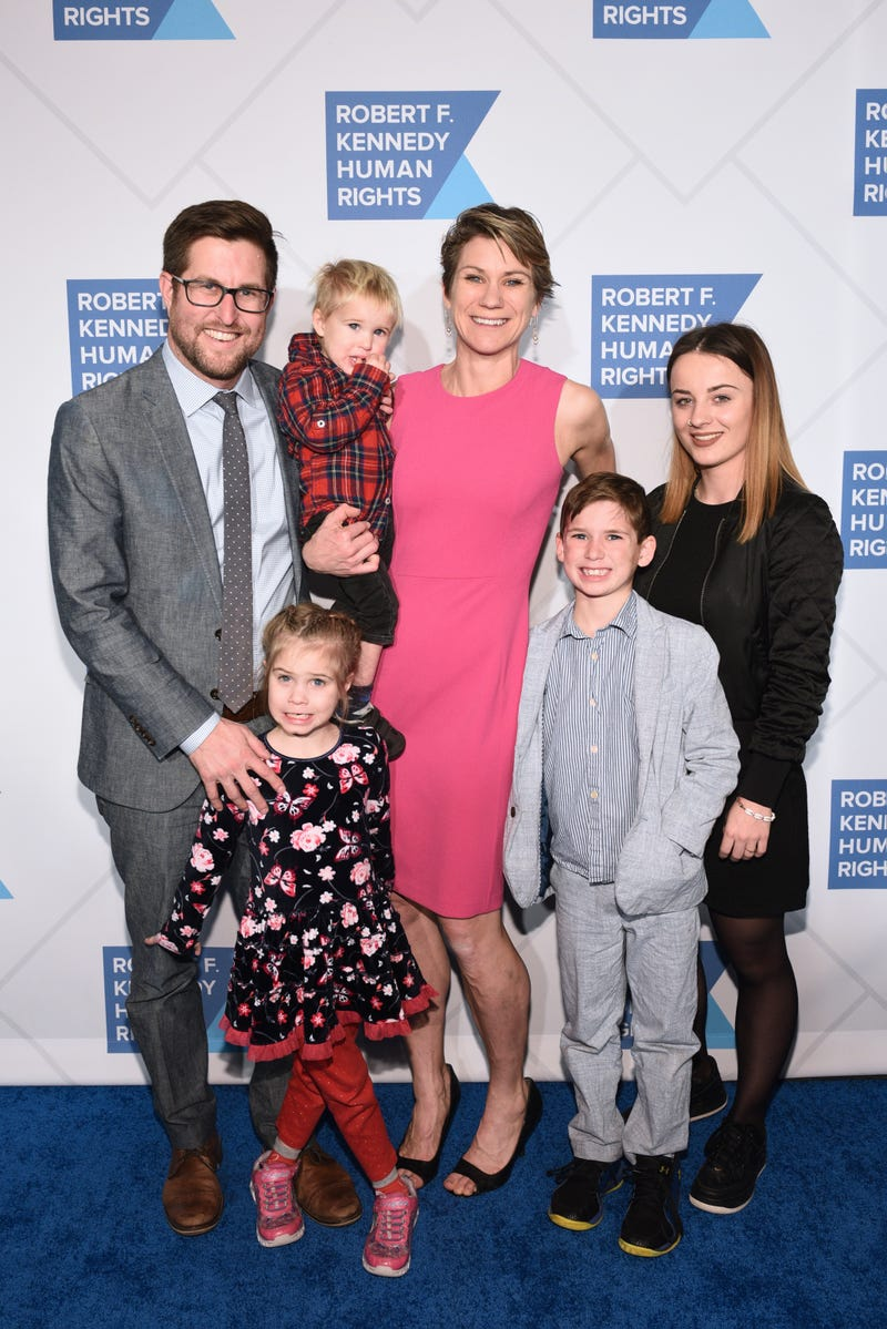 David McKean, Maeve Kennedy Townsend McKean and family at the Robert F. Kennedy Human Rights Hosts 2019 Ripple Of Hope Gala & Auction in NYC in December 2019.