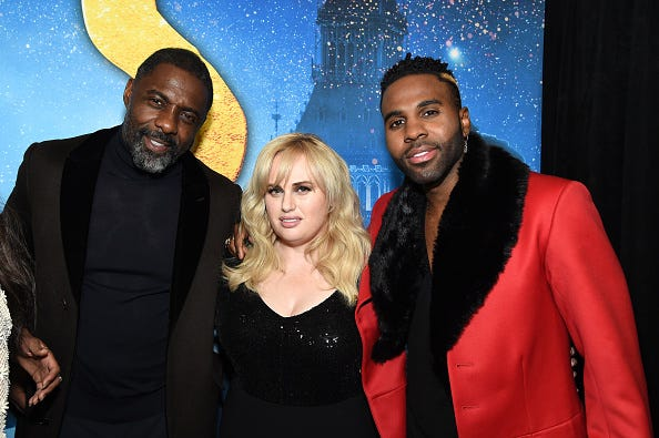 Idris Elba, Rebel Wilson, and Jason Derulo