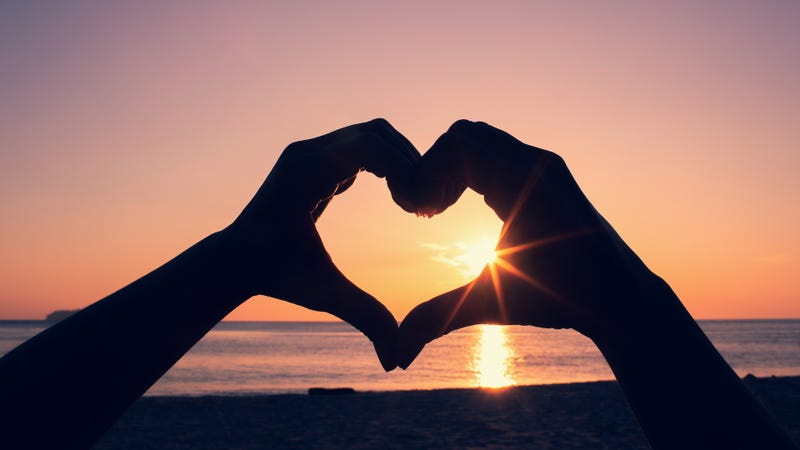 Sunrise with heart