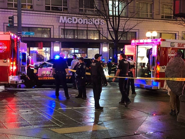 Shooting in downtown Seattle