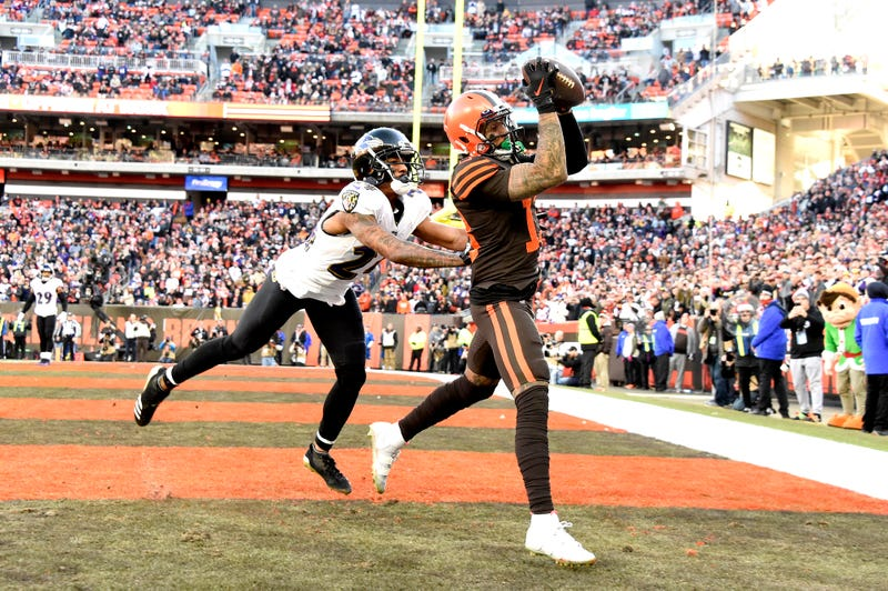 Odell Beckham beats Marcus Peters for a Browns touchdown