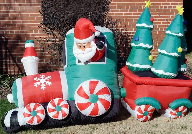 Inflatable Santa, Decoration