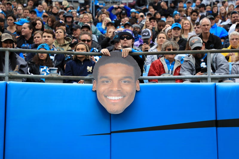 Panthers quarterback Cam Newton, seen in cutout form