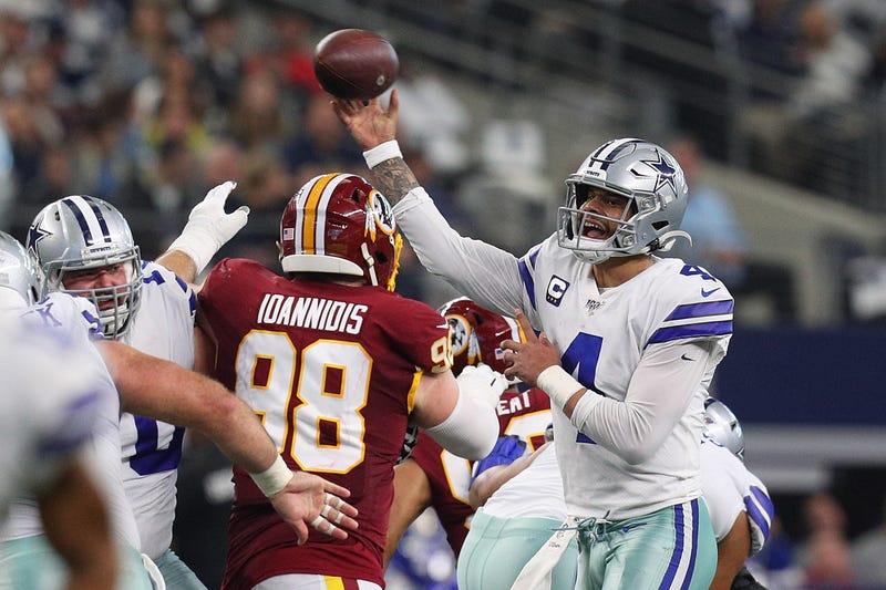 Dak Prescott lets it rip against a heavy Redskins pass rush
