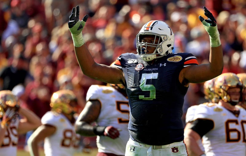 Auburn DT Derrick Brown netted SEC Defensive Player of the Year honors in 2019