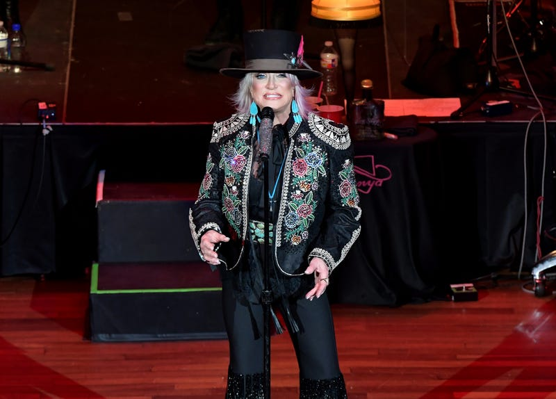 Country music artist Tanya Tucker performs at the Ryman Auditorium