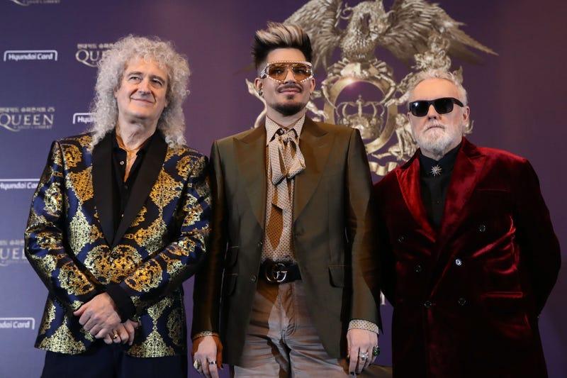 Queen's Brian May, Adam Lambert & Roger Taylor