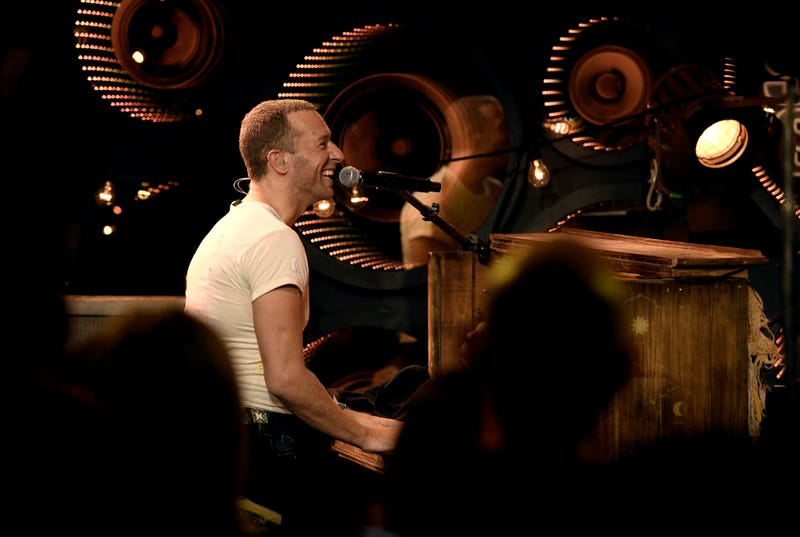 Chris Martin of Coldplay Performs at Inaugural RADIO.COM Live Event Series During Grand Opening Of HD Radio Sound Space at Entercom Los Angeles