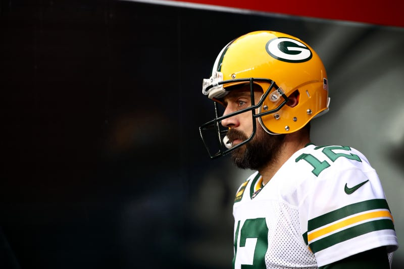 Packers quarterback Aaron Rodgers in the tunnel.