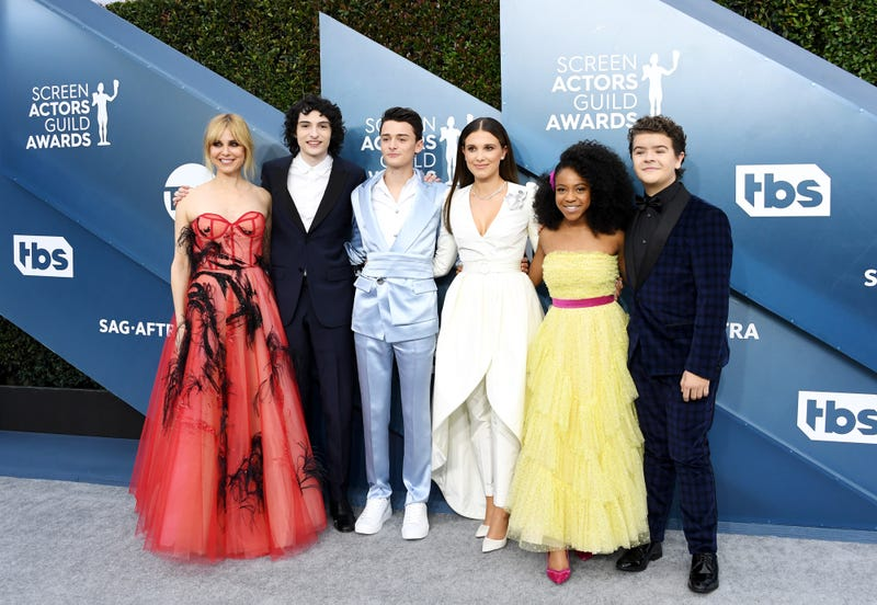 stranger things cast at 2020 sag awards