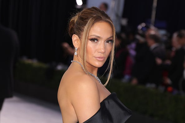 Jennifer Lopez attends 26th Annual Screen Actors Guild Awards at The Shrine Auditorium on January 19, 2020 in Los Angeles, California.
