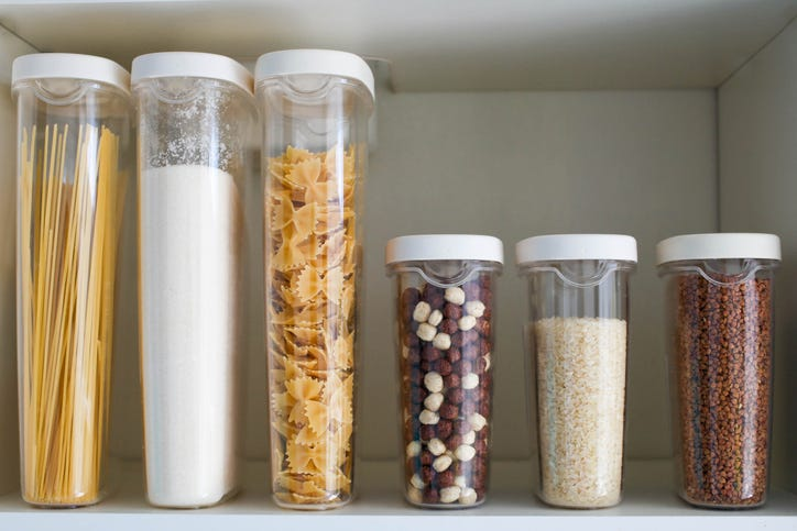 pantry items in containers
