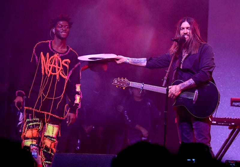 Lil Nas X and Billy Ray Cyrus perform onstage