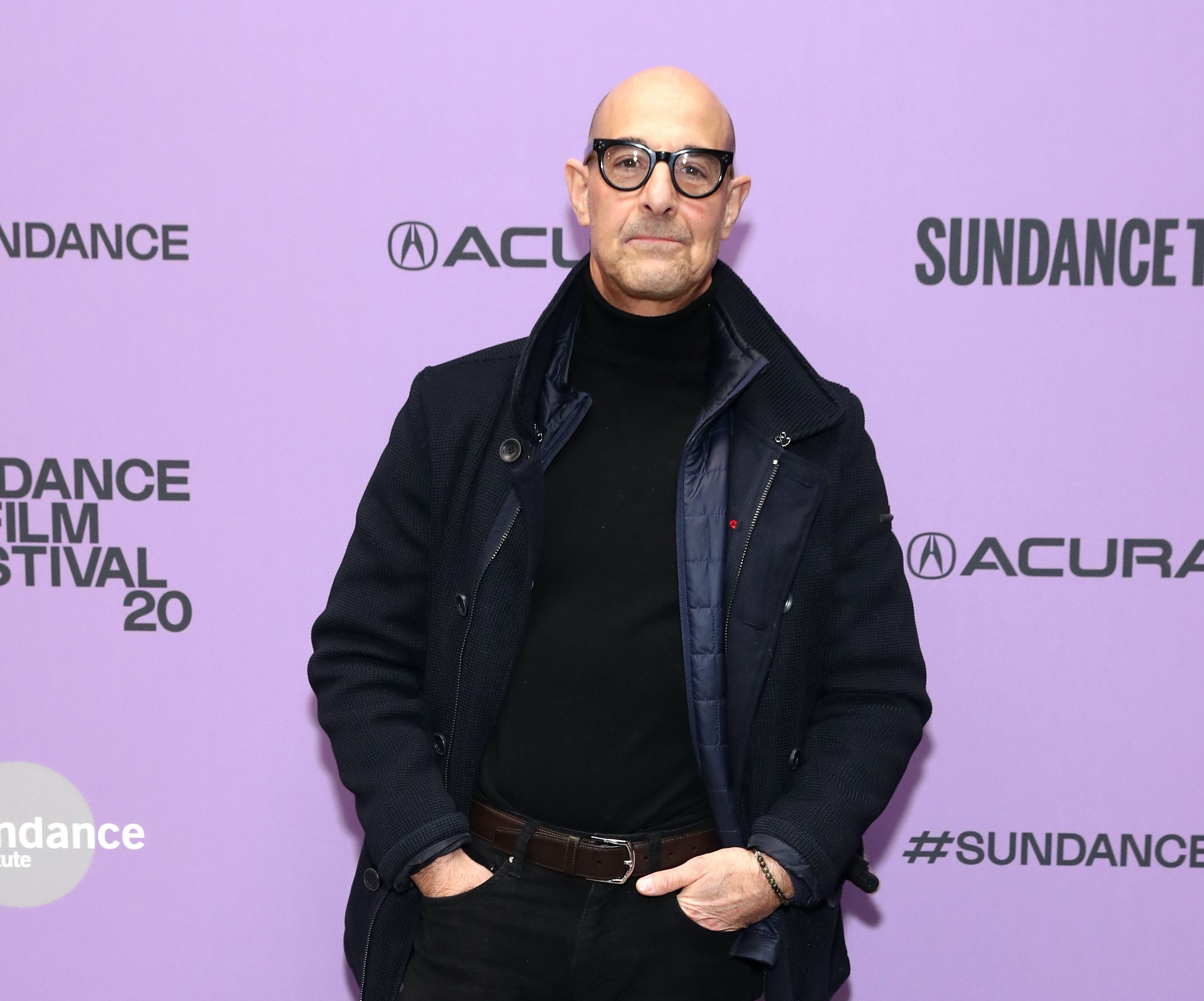 Stanley Tucci flaunts his classy bartending skills making an Old Fashioned cocktail before noon