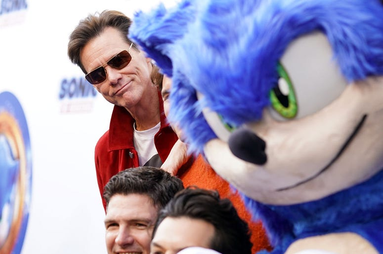 Jim Carrey might punch Sonic The Hedgehog