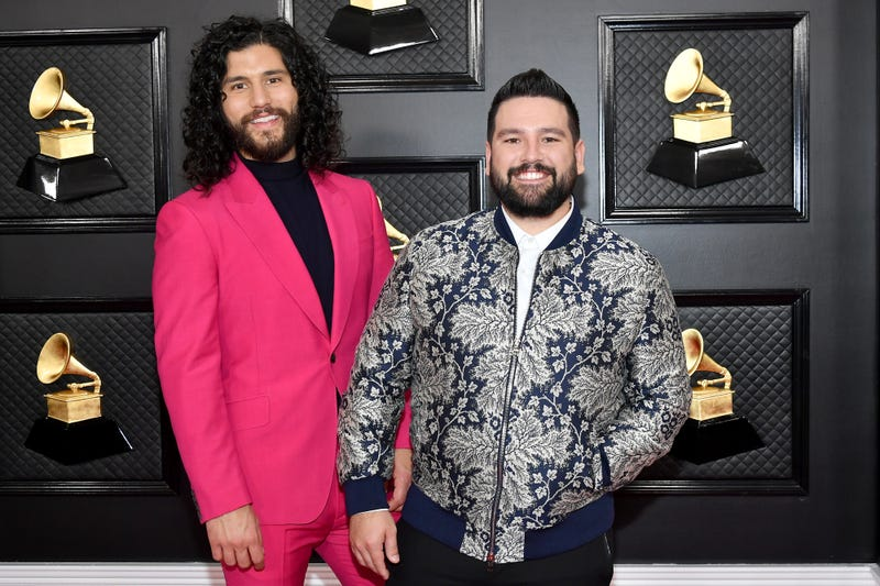 Dan Smyers and Shay Mooney of Dan + Shay attend the 62nd Annual GRAMMY Awards