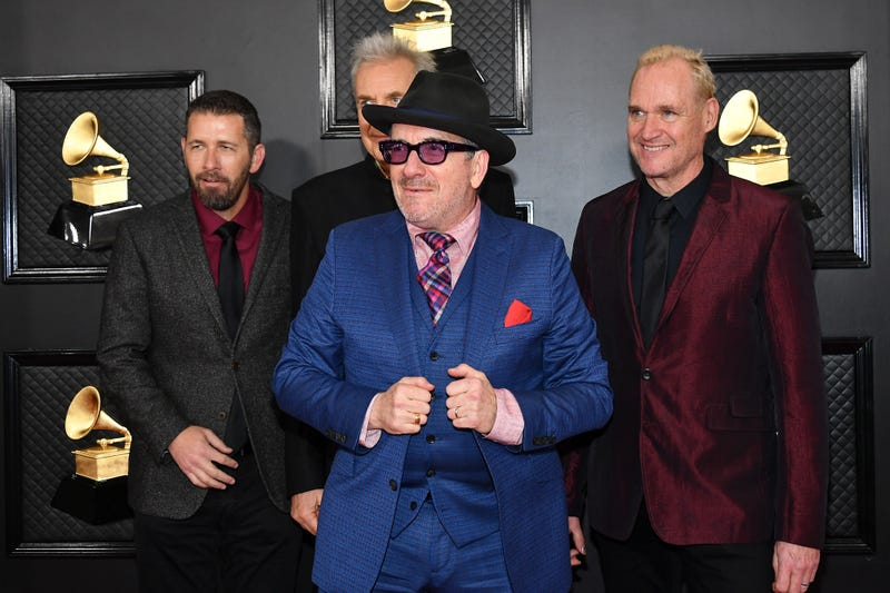 Elvis Costello and the Imposters attend the 62nd Annual GRAMMY Awards