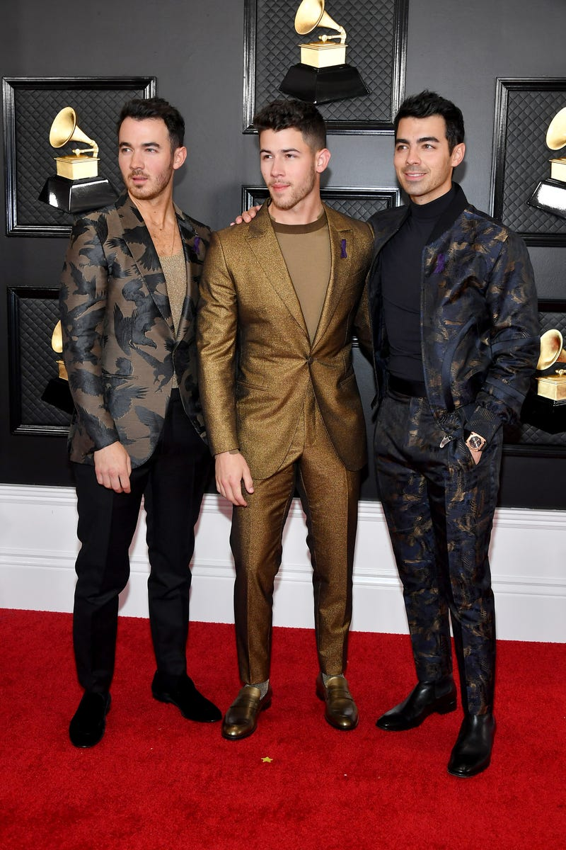 Kevin Jonas, Nick Jonas, and Joe Jonas of music group Jonas Brothers attend the 62nd Annual GRAMMY Awards