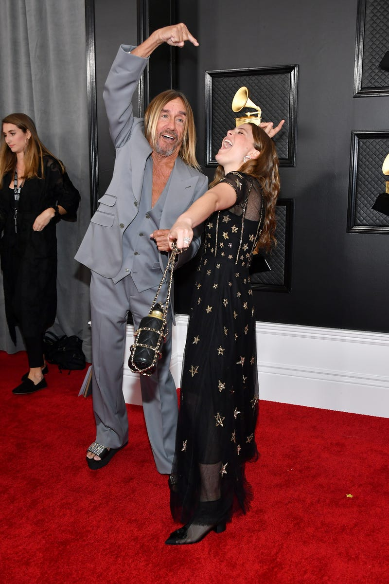Iggy Pop and Maggie Rogers attend the 62nd Annual GRAMMY Awards