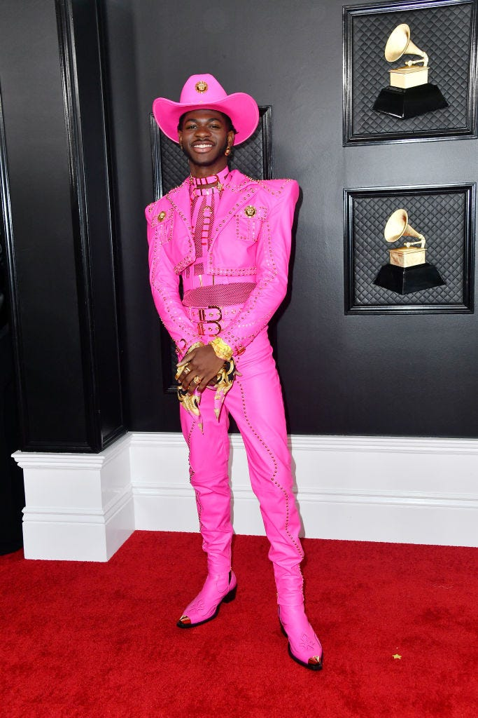 Lil Nas X attends the 62nd Annual GRAMMY Awards at STAPLES Center on January 26, 2020 in Los Angeles, California.