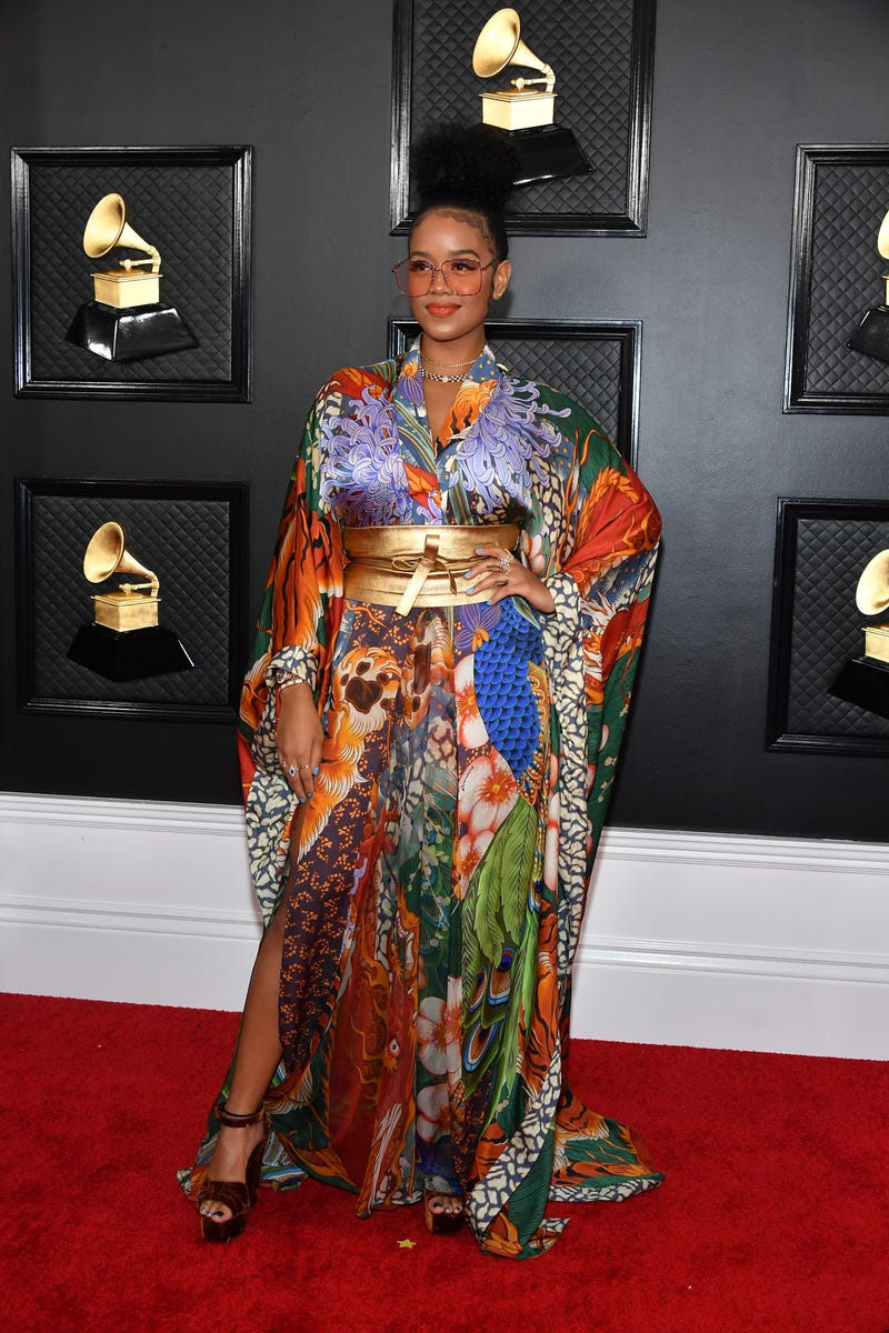 H.E.R. attends the 62nd Annual GRAMMY Awards at Staples Center
