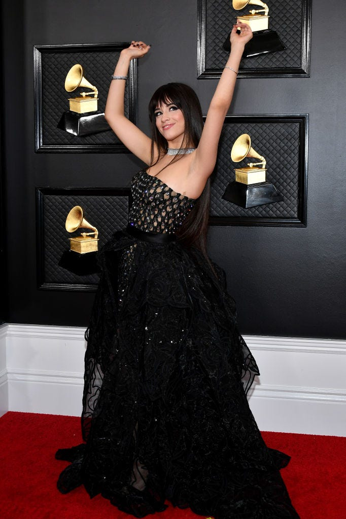 Camila Cabello attends the 62nd Annual GRAMMY Awards at Staples Center on January 26, 2020 in Los Angeles, California.