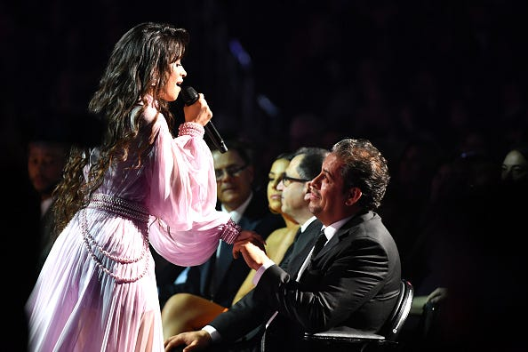 Camila Cabello performs onstage during the 62nd Annual GRAMMY Awards at STAPLES Center on January 26, 2020 in Los Angeles, California.