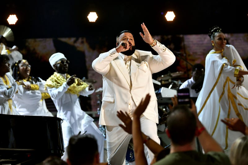DJ Khaled performs osntage during the 62nd Annual GRAMMY Awards