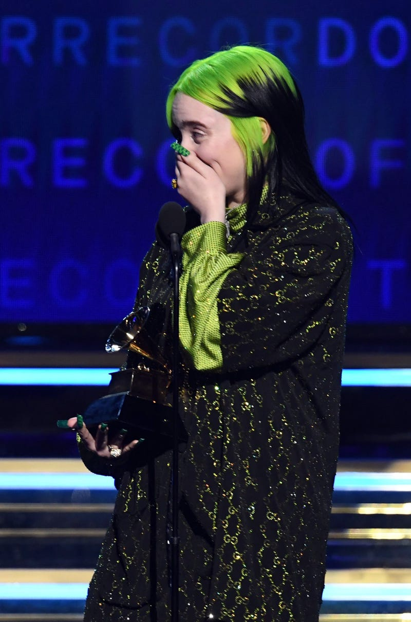 Billie Eilish accepts the Record of the Year award for 'Bad Guy' onstage during the 62nd Annual GRAMMY Awards