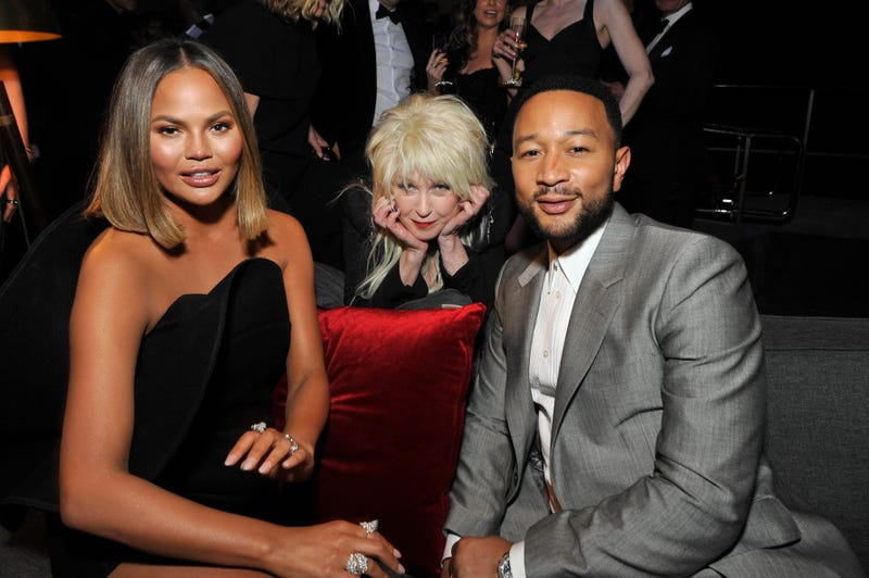 chrissy teigen, cyndi lauper and john legend at 2020 grammys sony after party