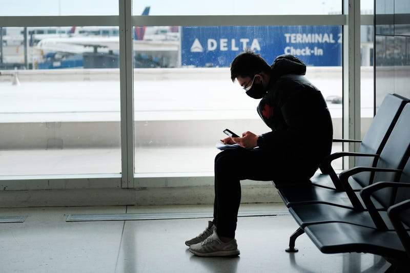 At the terminal that serves planes bound for China, people wear medical masks out of concern over the Coronavirus at John F. Kennedy Airport (JFK) out of concern over the Coronavirus on January 31, 2020 in New York City.
