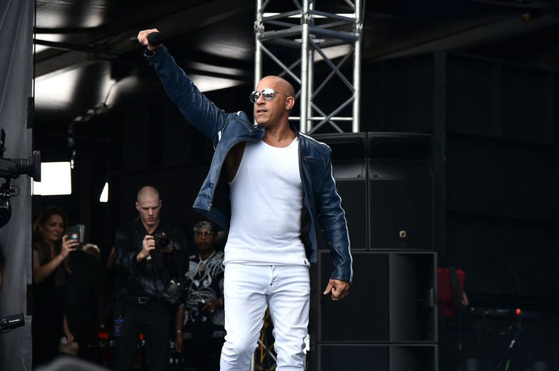 Vin Diesel speaks onstage during Universal Pictures Presents The Road To F9 Concert and Trailer Drop on January 31, 2020 in Miami, Florida.