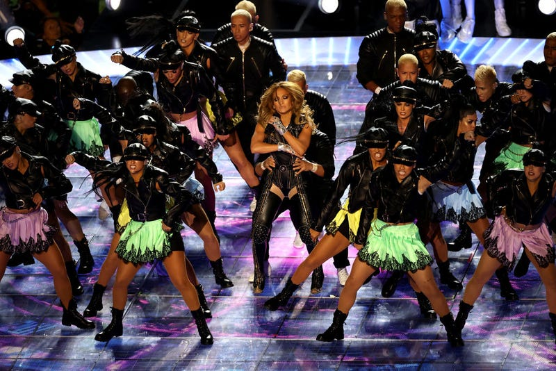 Singer Jennifer Lopez performs during the Pepsi Super Bowl LIV Halftime Show at Hard Rock Stadium on February 02, 2020 in Miami, Florida.