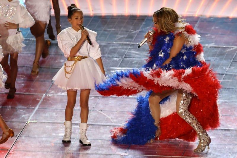 JLo y su hija en el Super Bowl